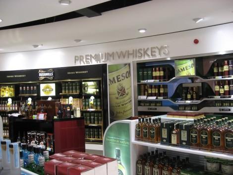 Duty free shop at Dublin airport