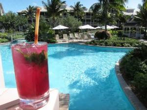 Beet mojito served at Ocean Club West