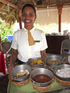 Waitress in Rincon Dominicano Restaurant