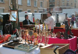 Jewerly and other treasures at the Marché aux Puces de la Porte de Vanves