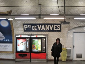 Inside the metro at Porte de Vanves stop in Paris.