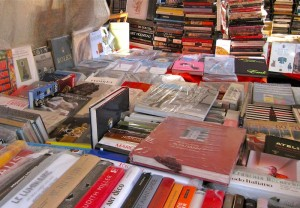 Paris flea market stand selling books