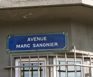 Ave Marc Sangnier street sign