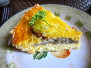 Sausage and Cheese Quiche by Susan Manlin Katzman
