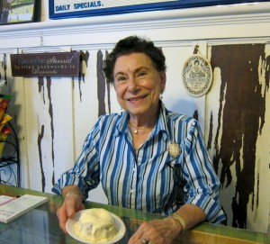 Dolores Roux with Carrot cake