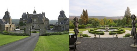 Front and back of Manoir de Lebioles