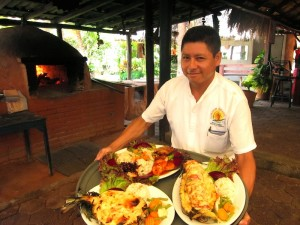 Serving at El Camaron Gigante by Susan Manlin Katzman