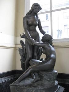 Statue of Ondine in the Pouhon Pierre-le-Grand