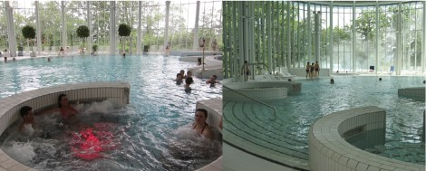 Indoor pool at Thermes de Spa