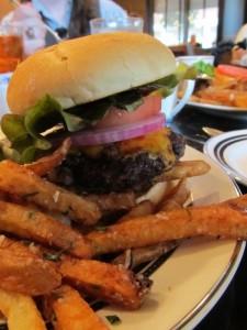 Capital Bar and Grill burger by Kat Robinson