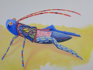 Painted Grasshopper by Susan Manlin Katzman