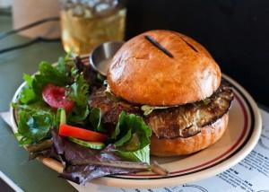 The Root Cafe Portabello Burger by Grav Weldon