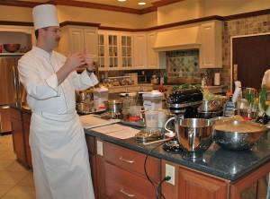 Chef Scott Baker making Fougasse