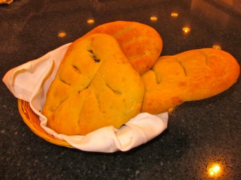 Three Loaves Fougasse