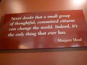 Margaret Mead Quote photo by S.M. Katzman