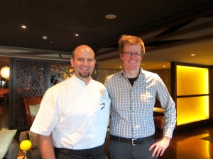 Chef Richard Hodge and Josh Porter