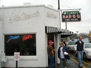 Facade of McClard's Bar-B-Q Restaurant by Susan Manlin Katzman