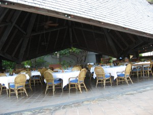 Dining Room at Little Dix Bay by Susan Manlin Katzman