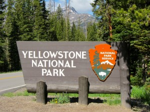 Entrance to Yellowstone National Park by S.M. Katzman