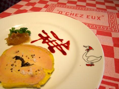 Foie gras de canard truffé de l'Auberge (Home-made truffled duck foie gras)