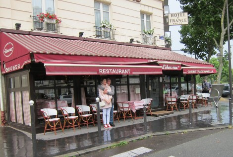 Restaurant D'Chez Eux in the Rain by Susan Manlin Katzman