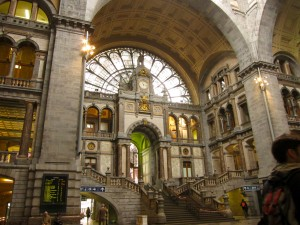 Antwerp Central train station built between 1895 and 1905.