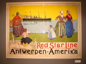 Poster from the Red Star Line Museum