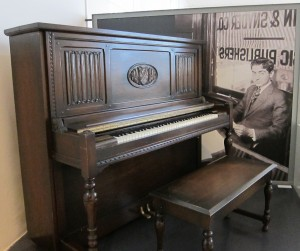 Irving Berlin's Piano on display at the Red Star Line Museum in Antwerp, Belgium