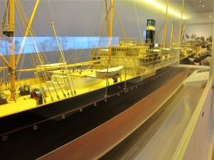 Ship model at the Red Star Line Museum in Antwerp, Belgium