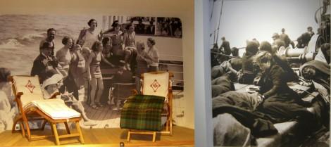 Passenger photos at the Red Star Line Museum in Antwerp, Belgium