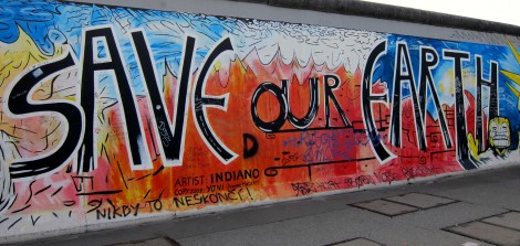 Save Our Earth from the East Side Gallery