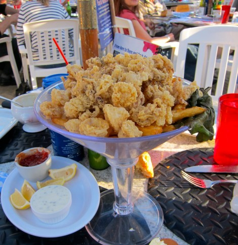 Crispy Calamari at Paradise Cove