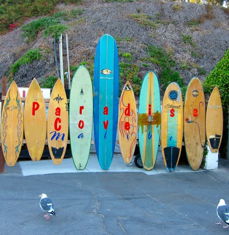 Surf Boards Paradise Cove