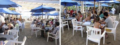 Outdoor seating at Paradise Cove Cafe