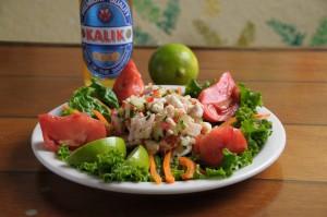 conch salad at Calypso Restaurant