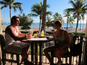 Breakfast on the Terrace of Beauty and the Feast Fort Lauderdale