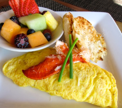 Lobster Omelet from The Atlantic Hotel Fort Lauderdale by Susan Manlin Katzman