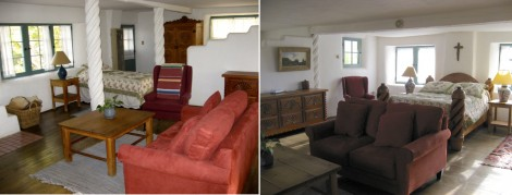 Bedrooms in Mabel Dodge Luhan House