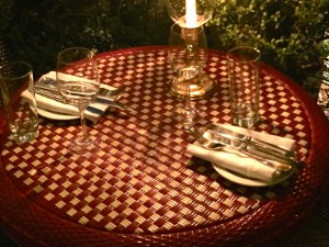 Table at Chateau Marmont