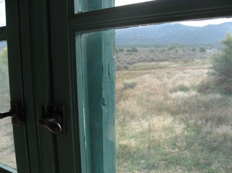 Window at Mabel Dodge Luhan House by Susan Manlin Katzman