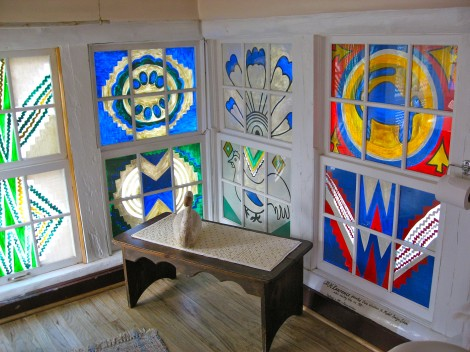 D.H. Lawrence Painted Windows in the Mabel Dodge Luhan House