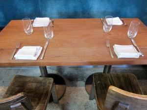 Table at Farmshop