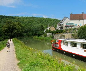 Barge on a French Canal