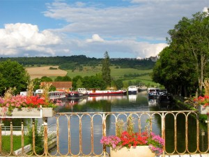 Barge Dock in Burgundy