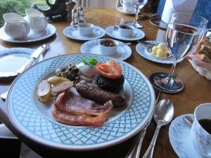 Scottish breakfast in the dining room