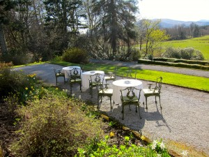 Terrace at Inverlochy Castle Hotel