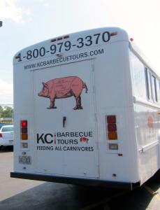 KC Barbecue Tours Bus by Susan Manlin Katzman