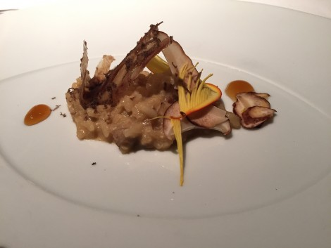 RISOTTO Mushrooms with pig's trotters paper