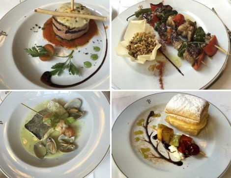 Food From Parador de Caceres' Restaurant. Collage by Susan Manlin Katzman