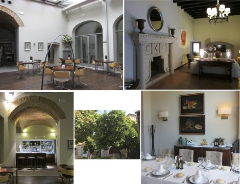 Parador de Caceres meeting places Collage by Susan Manlin Katzman